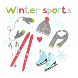 Winter sports and activities Royalty Free Stock Photos