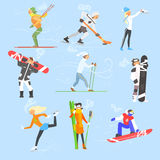 Winter Sports and Activities. Vector Illustration Royalty Free Stock Photo