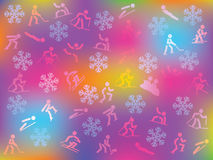 Winter sports background Royalty Free Stock Photos