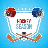 Winter sports background. Hockey season. Royalty Free Stock Photography