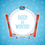Winter sports background. Stock Images