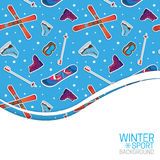 Winter sports background. Stock Photos