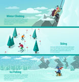 Winter sports banner. Royalty Free Stock Photos