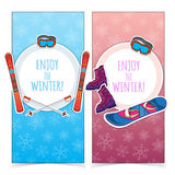 Winter sports banners. Royalty Free Stock Image