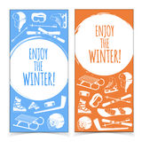 Winter sports banners. Stock Image