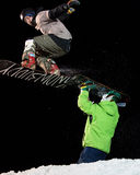 Winter Sports Big Air Contest Royalty Free Stock Images