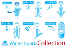 Winter sports collection Stock Photography