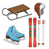 Winter sports collection. Royalty Free Stock Images