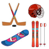 Winter sports collection. Stock Photo
