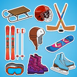 Winter sports collection. Stock Image