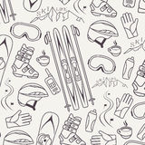 Winter sports collection pattern Stock Photography