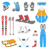 Winter sports collection Royalty Free Stock Images