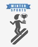 Winter sports design Stock Photo