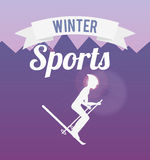 Winter sports design Royalty Free Stock Image