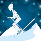 Winter sports design Stock Photos