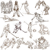 Winter Sports - An hand drawn collection Royalty Free Stock Image