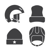 Winter Sports Head Wear Outline Icons Royalty Free Stock Photography