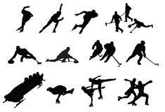 Winter sports. Hockey skiing ski Stock Image