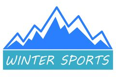 Winter sports icon Royalty Free Stock Photography
