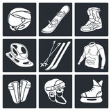 Winter sports icon collection Stock Image
