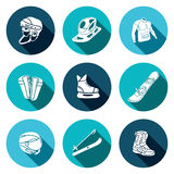 Winter sports icon collection Royalty Free Stock Photography
