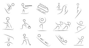 Winter sports icon set Royalty Free Stock Photography