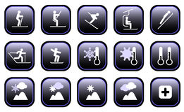 Winter Sports Icons Stock Photography