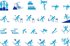 Winter sports icons Royalty Free Stock Photo