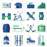 Winter Sports Icons Royalty Free Stock Image