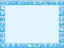 Winter sports icons frame Stock Images