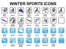 Winter sports icons. Set of winter sports icons Stock Image