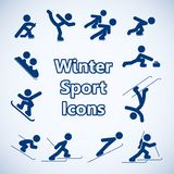 Winter sports icons set Stock Photo