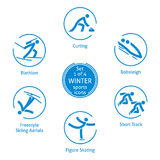 Winter sports icons set, 1 of 4, vector pictograms Stock Photo