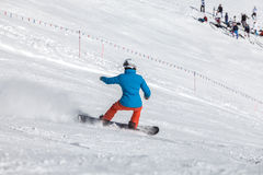 Winter sports in the mountains Stock Photography