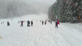 Winter sports stock footage