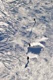 Winter sports on the ski run Royalty Free Stock Photography