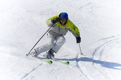 Winter sports Skier high speed Royalty Free Stock Images