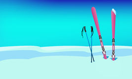 Winter sports skiing rest Stock Photography