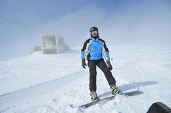 Winter sports (snowboarder portrait) royalty free stock photo