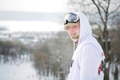 Winter sportsman Stock Photo