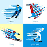 Winter Sportsman Design Concept Stock Photo