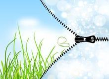 Winter-spring season change illustration Stock Photos