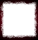 Winter Square Frame with Snowflakes Royalty Free Stock Photography