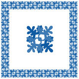 Winter square ornament Royalty Free Stock Photography