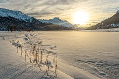 Winter at St. Moritz Royalty Free Stock Photo
