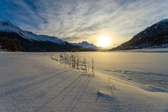 Winter at St. Moritz. Switzerland Stock Images