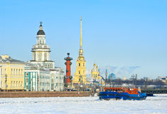 Winter in St. Petersburg Royalty Free Stock Images