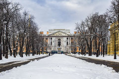 Winter is in the St.Petersburg. This picture was taken in the most beautiful cities in the world. Saint-Petesburg, I love you for your rich history, amazing Stock Image