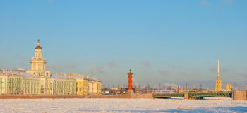 Winter St. Petersburg Royalty Free Stock Photos