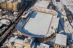 Winter stadium Stock Photography